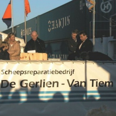 christening of the 2 ships Prins Willem-lexander en Prinses Maxima 2-2-2002